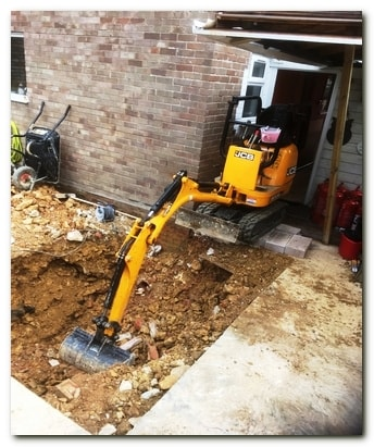 South Gloucestershire manned micro mini diggers hire